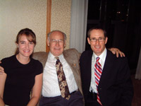 Dr. Hunter (left) and Dr. Hasick (right) with Dr. Marshall Dickholtz Sr. (centre) Dr. Dickholtz Sr.